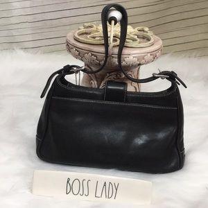 Coach Bags - Coach Black Hobo Leather Shoulder Bag D13-7789
